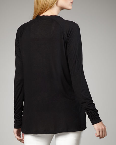 Reversible Modal Cardigan, Black