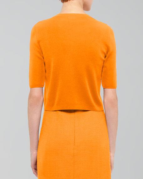 Half-Sleeve Cardigan, Mandarin