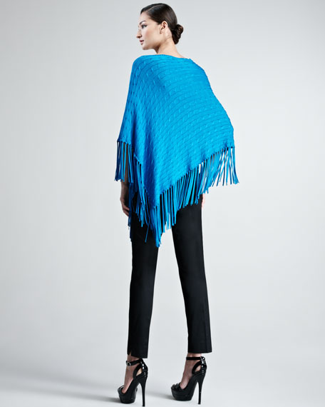 Francis Cable-Knit Poncho
