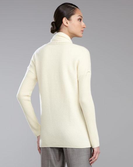 Micro-Popcorn Cashmere Sweater