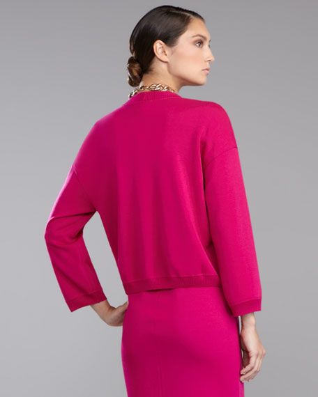 Milano Cropped Knit Jacket, Cosmo