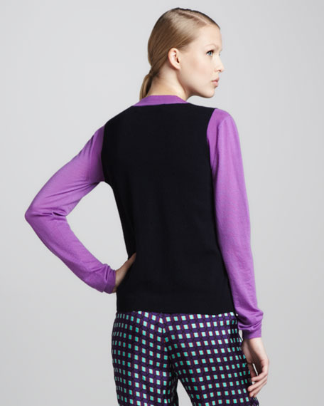 Colorblock Cardigan, Abyss