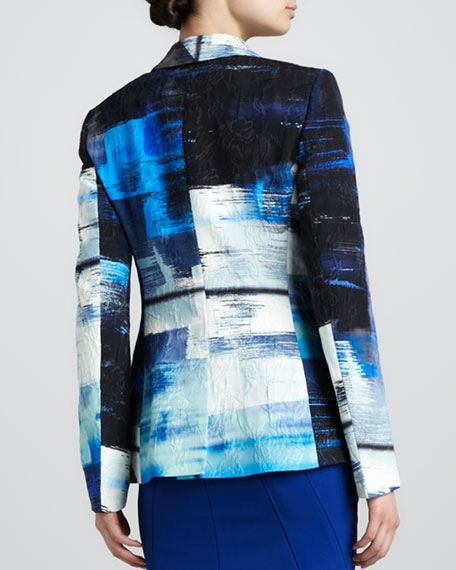 Abstract-Print Blazer