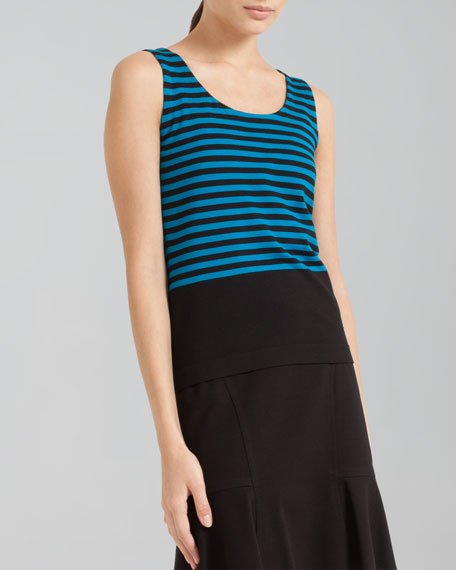 Fitted Striped Knit Tank