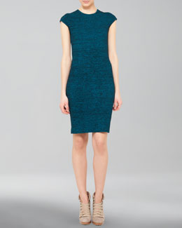 Akris punto Cap-Sleeve Knit Sheath Dress