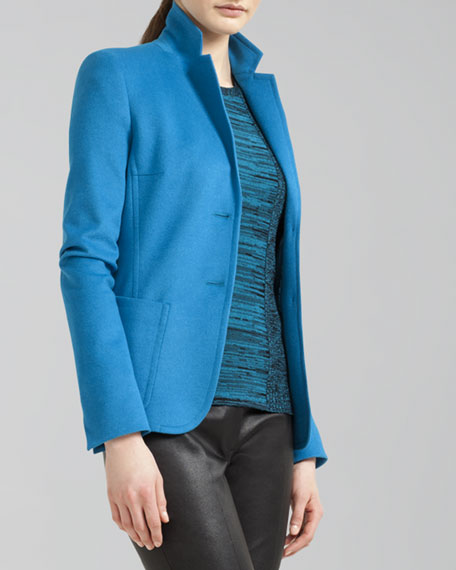 Two-Button Wool Blend Blazer