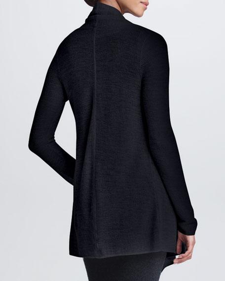 Drape-Front Cashmere Cozy, Charcoal