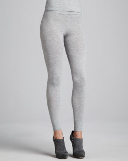 Donna Karan Stretch Cashmere Melange Leggings, Cement