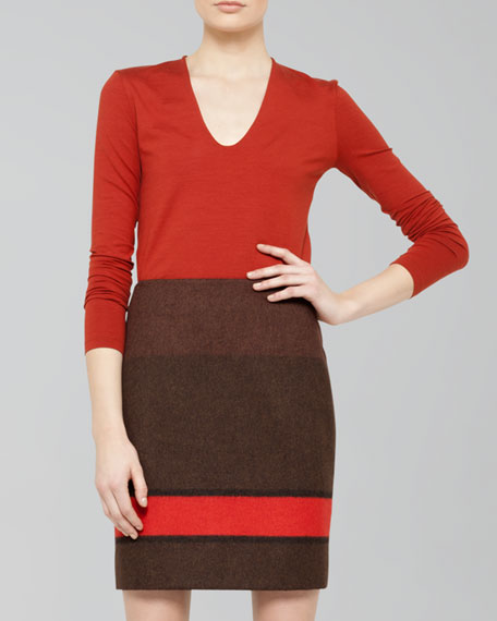 Colorblock Striped Shirt