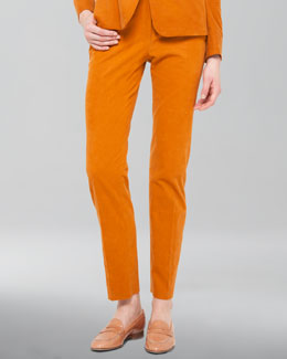 Akris Cotton-Cashmere Corduroy Pants