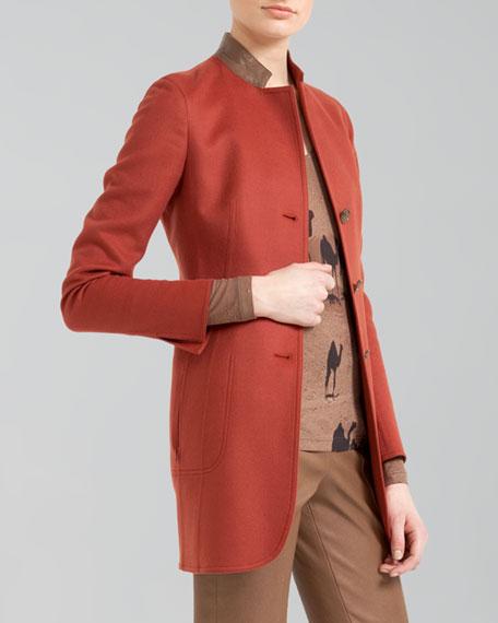 Long Double-Face Cashmere Jacket
