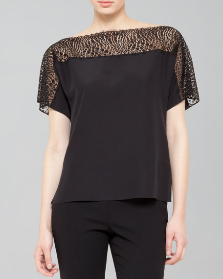 Lace-Top Tunic Blouse