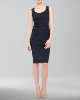 Akris Ruched Combo Pencil Skirt
