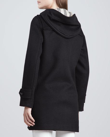 Classic Double-Face Toggle Duffle Coat, Black