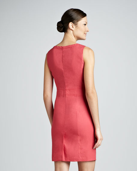Sleeveless Banded Sheath Dress