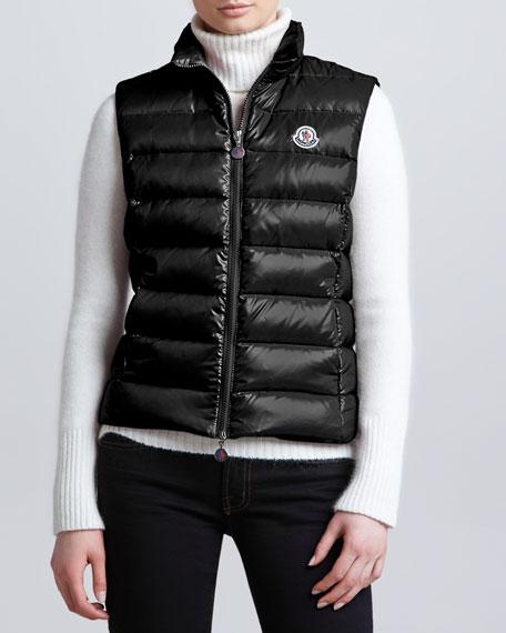Zip-Front Puffer Vest
