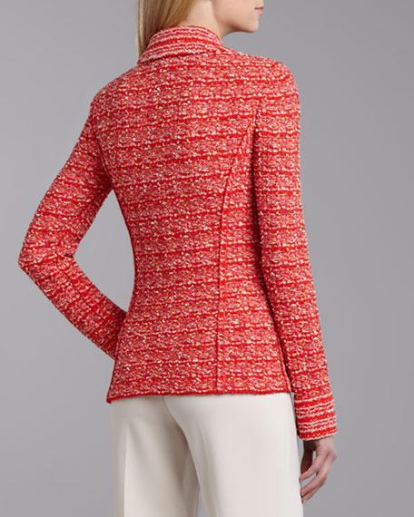 Sloane Street Tweed Blazer, Flame