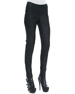 Gareth Pugh Waxed Leather Paneled Pants