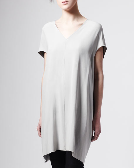 Tapered Draped Long Tunic