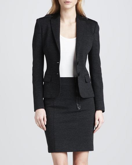 Zip-Pocket Pencil Skirt