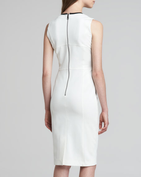 Burberry London Corset Contrast Piping Dress