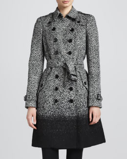 Burberry London Degrade Herringbone Trenchcoat