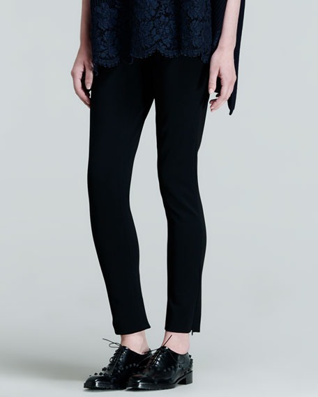 Ankle-Zip Legging Pants