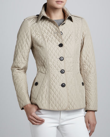 Lightweight Quilted Check-Lined Jacket