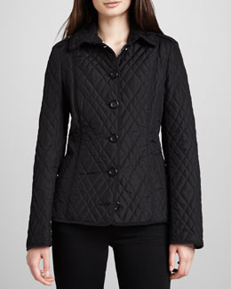 Burberry London Check-Lined Quilted Jacket