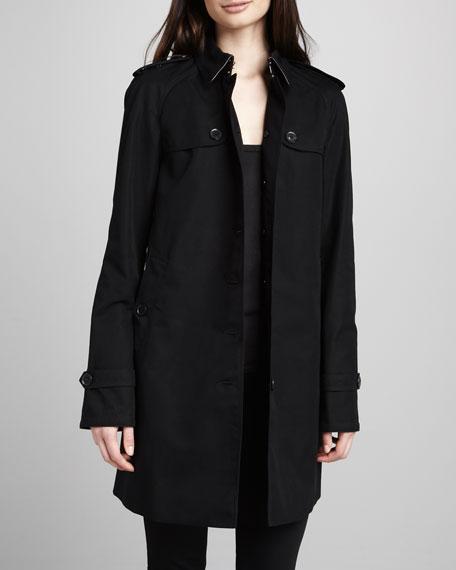 Single-Breasted Gabardine Trench Coat