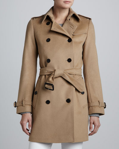 Burberry London Double-Breasted Wool-Blend Coat