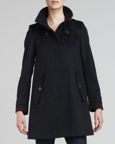 Burberry London Single-Breasted Swing Coat