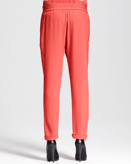 Zip-Pocket Drawstring Pants