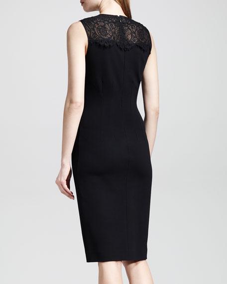 Lace-Top Combo Sheath Dress