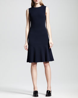 Stella McCartney A-Line Flounce-Hem Sheath Dress
