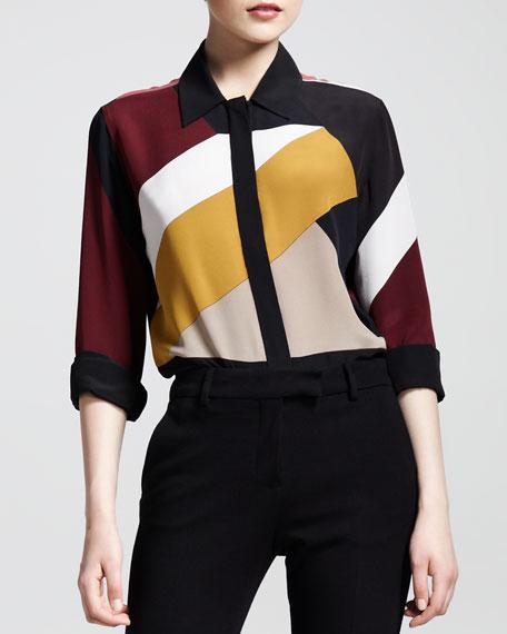 Mondrian Patchwork Blouse