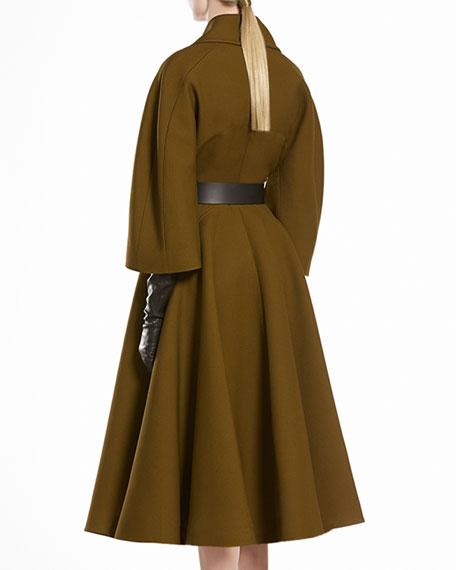 Wool Silk Oversized Coat