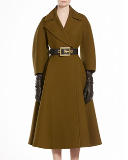 GUCCI Wool Silk Oversized Coat