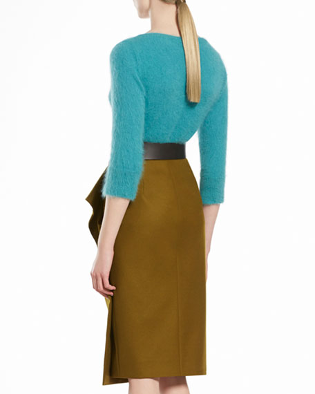 Stretch Flannel Flounce Skirt