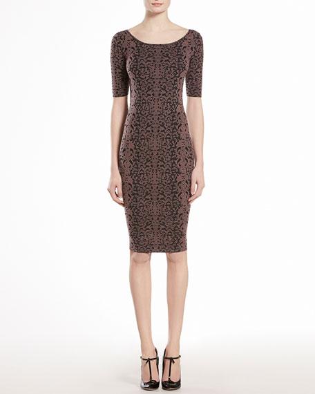 Jacquard Lace Dress
