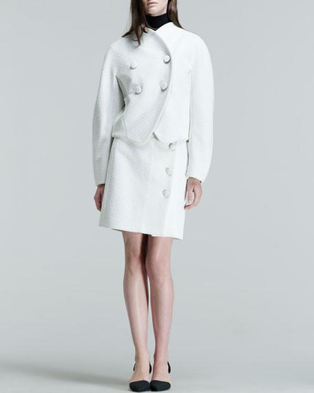 Button-Front A-Line Short Skirt
