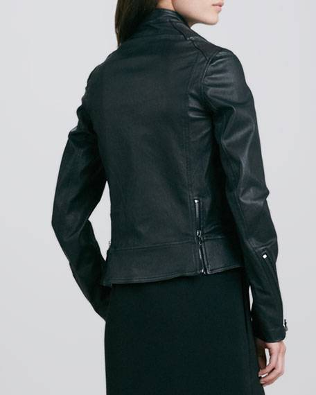 Leather Shrunken Field Jacket