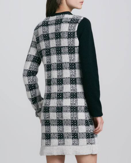 Plaid Colorblock Knit Dress