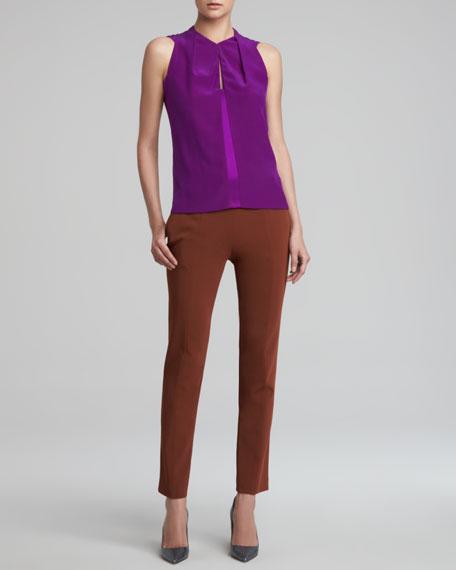 Cropped Skinny Pants, Rust