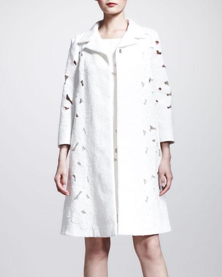 Brocade Lace Swing Coat