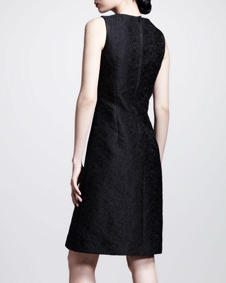 Sleeveless A-Line Brocade Dress