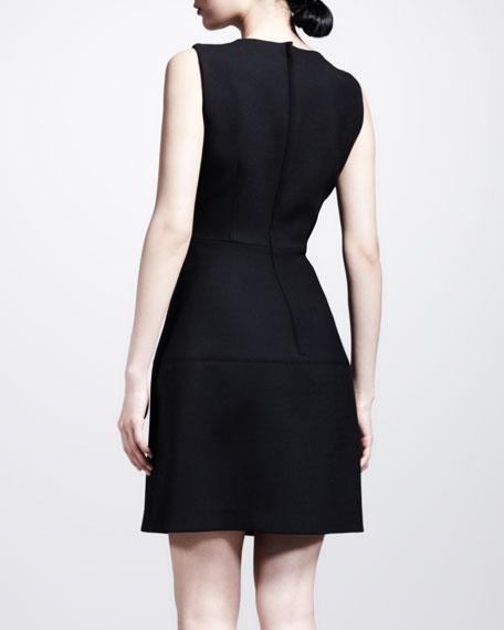 Sleeveless Seamed-Skirt Full Dress