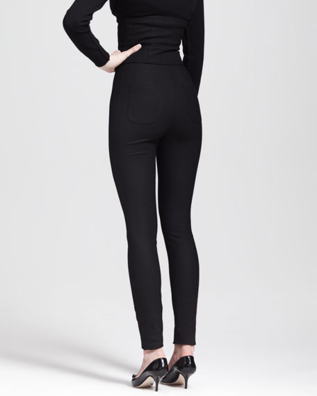 High-Waist Stretch Crepe Leggings