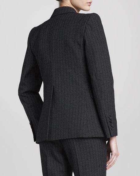 Pinstriped Blazer, Black