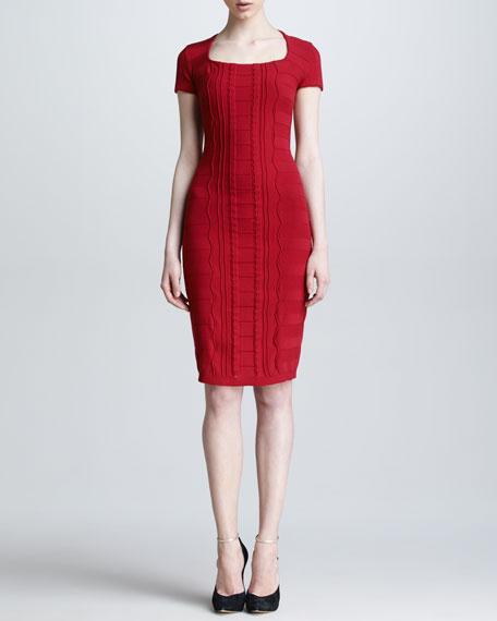 Scuba Short-Sleeve Dress